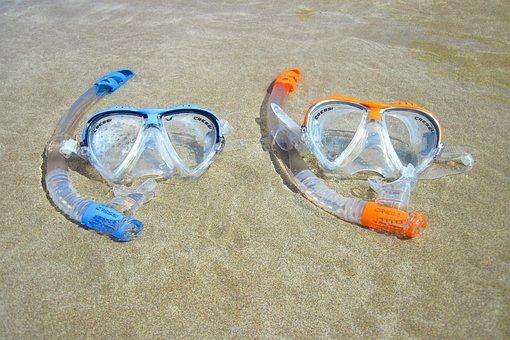 Beach, Diving, Equipment, Fun, Goggles, Mask, Object