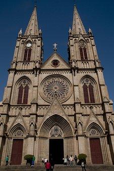 Cathedral, Church, Sacred Heart, Granite, Catholic