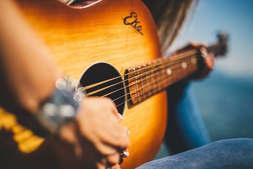 Guitar, Music, Female, Girl, Musician, Melody, Beat