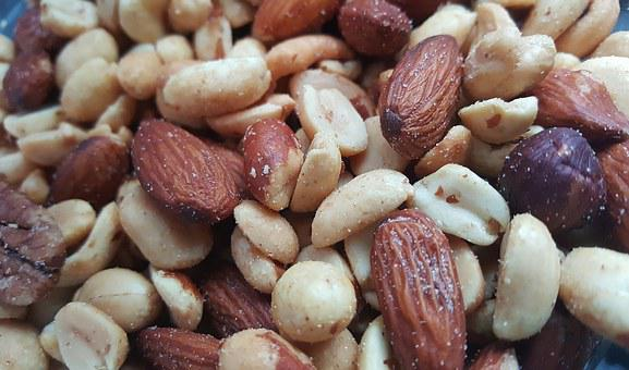 Nuts, Mixed Nuts, Food, Assorted, Almonds, Peanuts