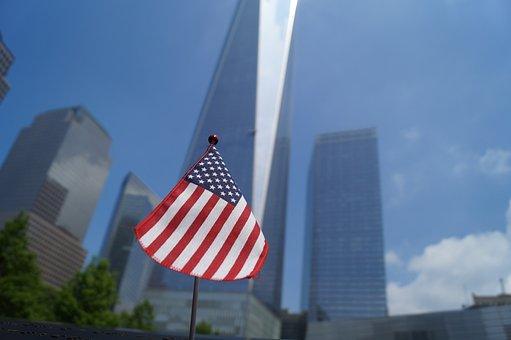 Flag America, New York, One World Trade Center, Usa