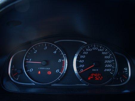 Counter, Clocks, Car, Speedometer, Tachometer, Process