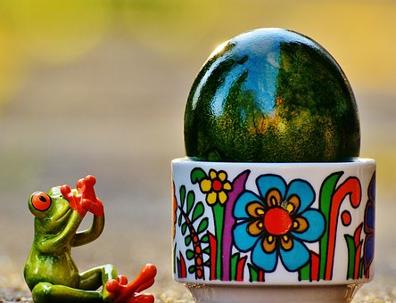 Easter, Frog, Surprised, Riesenei, Colorful, Easter Egg