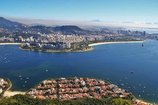 View From Sugarloaf, Seascape Bay Guanabara-on, Rio