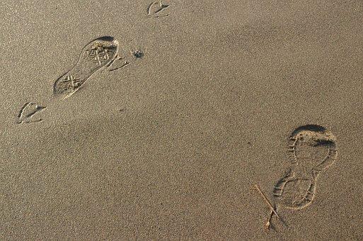 Footsteps, Footprint, Step, Sand, Walk, Barefoot, Beach