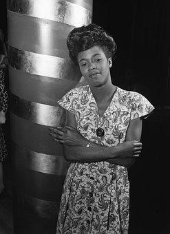 Sarah Vaughan, Portrait, Jazz Singer, African-american