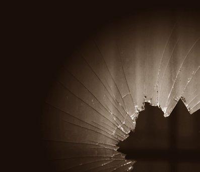 Shard, Window Pane, Glass Breakage, Shards Bring Luck
