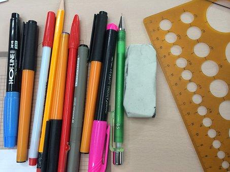 Ball Point Pen, Sharp, The Eraser, Now