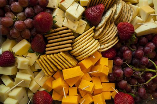 Cheese, Platter, Food, Snack, Dairy, Meal, Lunch, Plate