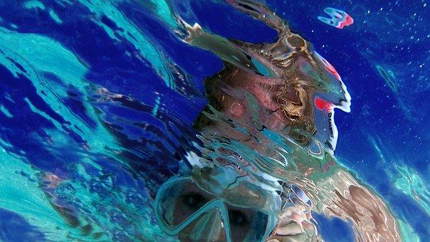 Mediterranean, Sea, Beach, Snorkel, Dive, Diving, Mask
