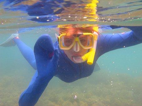 Diver, Ocean, Underwater, Swimming, Snorkelling, Water