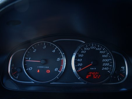 Counter, Clocks, Car, Speedometer, Tachometer, Process