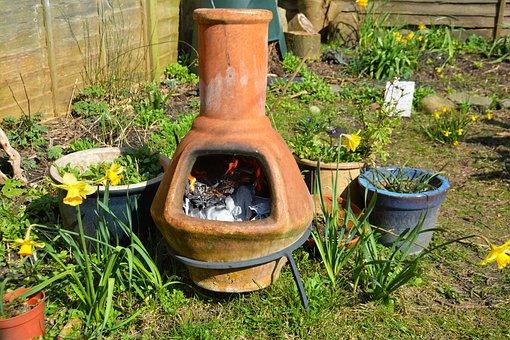 Clay Fire Pot, Stove, Garden, Pot, Belly, Fire, Clay