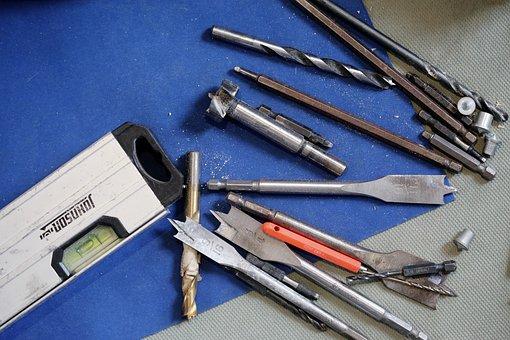 Tools, Diy, Drill, Metal, Equipment, Construction, Work