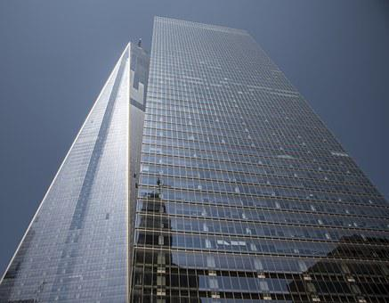 One World Trade Center, Manhattan, Torres, Glass, Sky
