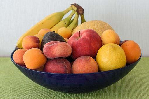 Fruit Bowl, Fruit Basket, Fruit, Vitamins, Food, Frisch