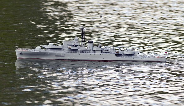 Remote Control Warship, Warship, Remote Control Boat