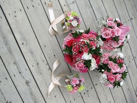 Wedding, Bouquet, Bridal, Marriage, Bridesmaid, Flowers