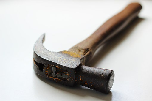 Hammer, White, Tool, Equipment, Repair, Carpenter