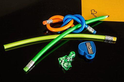 Pencil, Eraser, Write, School, Rubber, Pencil Sharpener