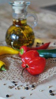 Chillis, Chilli Pepper, Chili, Red, Green, Yellow