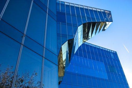 Barcelona, Barcelone, Building, Glass, Architecture