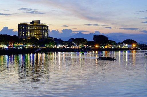 Sunset, Kuching, Malaysia, Sarawak, Borneo, Travel