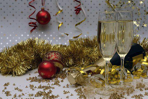 New Year's Eve, New Year's Greetings, Champagne