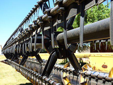 Farm Equipment, Platform, Combine Harvester