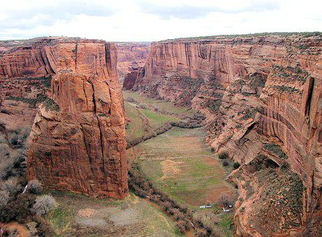 Canyon De Chelly, Rock Formation, National Park, Gap