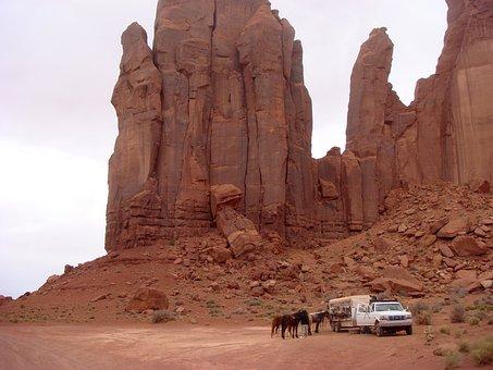 Horses, Horseback Riding, Monument Valley