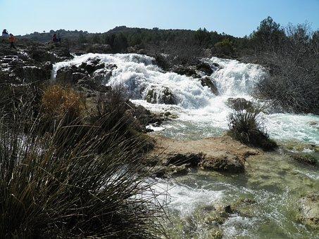 Lagoons Of Ruidera, Water, Spain, Nature, Waterfall