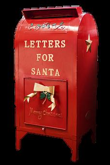 Santa Mailbox, Christmas, Xmas, Mailbox, Letter, Red