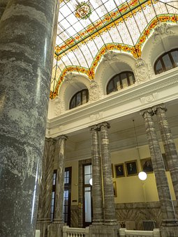 Palace, Architecture, Museum, Ceilings, Madrid, Columns