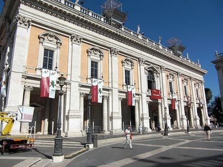 Piazza Del Campidoglio, Rome, Italy, Building