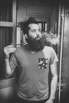Bearded, Man, Smoke, Pipe, Smoking, Hipster, Male