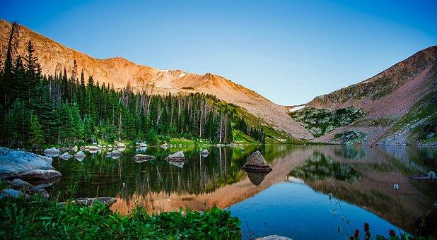 Kelly Lake, California, Landscape, Water, Reflections