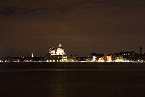 Night, Venice, Romantic, Light, Without Tourists, Italy