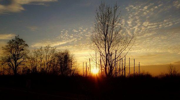 Sunset, Landscape, Beauty, Scenically, Winter
