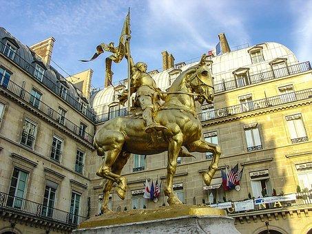 Joan Of Arc, Statue, Paris, France, Sculpture, Horse