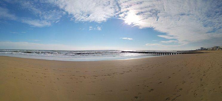 Jesolo, Beach, Venice, Sky, Nobody, Panoramic