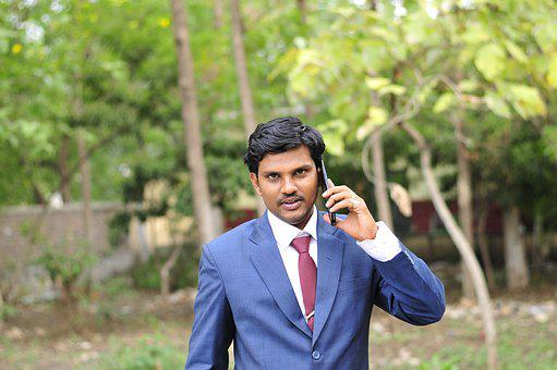 Profile, Picture, Image, Suit, Phone, Bussines People