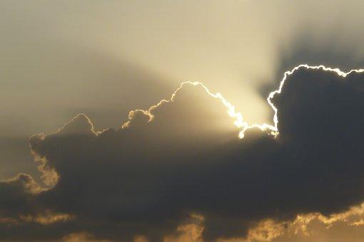 Cloud, Sunbeam, Sun, Sunset, Evening, Sky, Rays