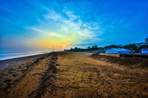 Lignano, Beach, Sea, Sunset, Sand, Holidays, Waterfront