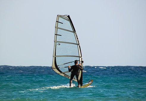 Windsurfing, Sport, Surfing, Water, Sea, Surfer