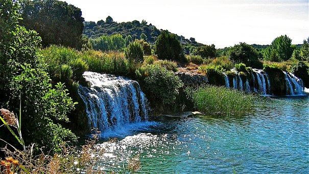 Lagoons Of Ruidera, Water, Waterfall, River, Laguna