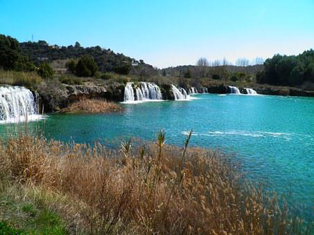 Laguna, Water, Nature, Spain, Waterfall, Landscape
