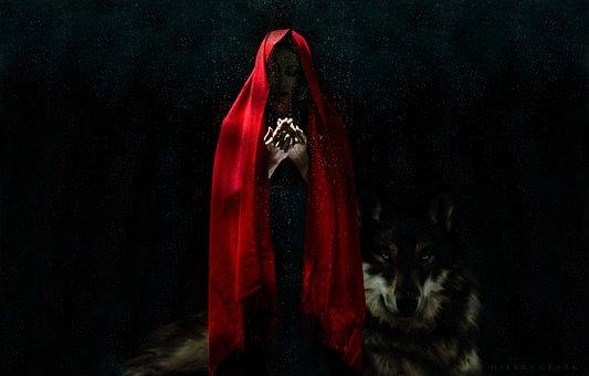 Woman, Red, Girl, Female, Lady, Color, Dark, Fantasy