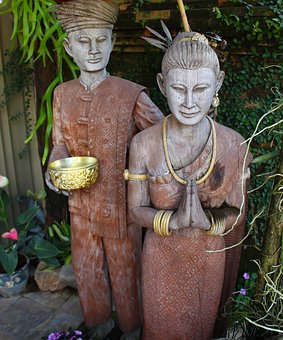 Wood Figures, Sculptures, Statue, Decoration, Wooden