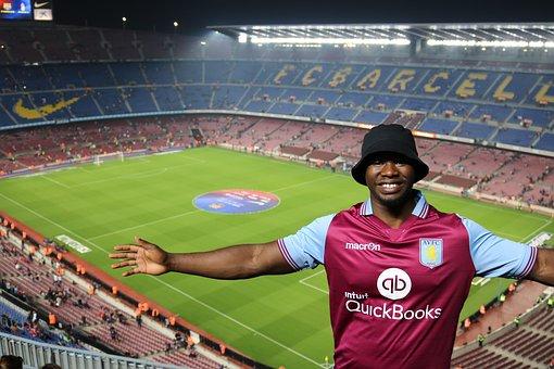 Football, Barcelona Fc, Camp Nou, Aston Villa, Fan